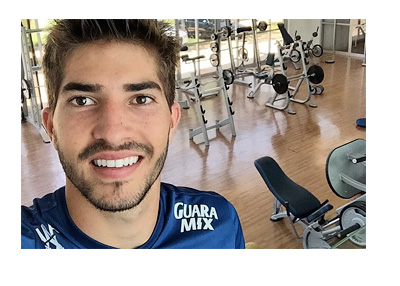 Lucas Silva Selfie - Instagram Photo - At the Gym