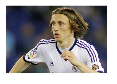Luka Modric in action for Real Madrid - Spanish La Liga - Year 2013
