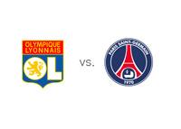 Lyon vs. Paris Saint-Germain (PSG) - Ligue 1 Matchup - Team Logos