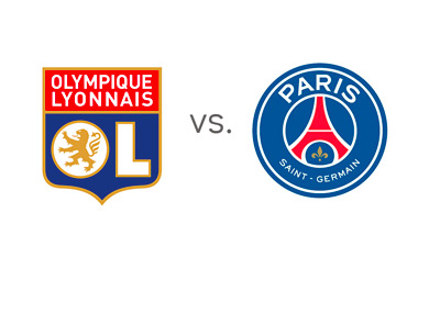 Lyon vs. Paris Saint-Germain (PSG) - Matchup and Odds - Team Logos / Crests - Game Preview