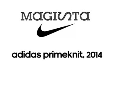 Nike Magista and adidas primeknit - Logos