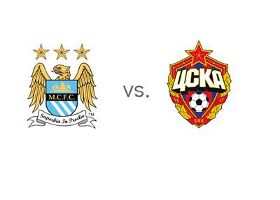 UEFA Champions League - Manchester City vs. CSKA Moscow (Moskva) - Matchup and Logos