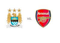 Manchester City vs. Arsenal - Matchup and Team Logos