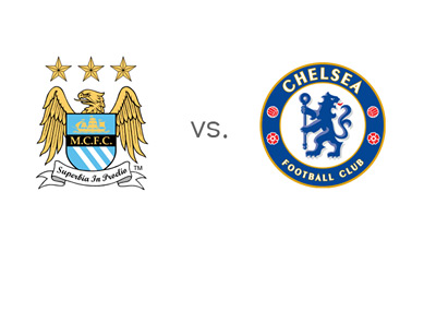 English Premier League Matchup - Head to Head - Manchester City vs. Chelsea FC - Team Logos