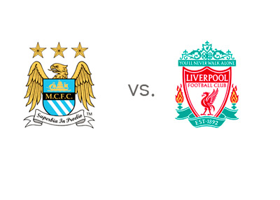 Manchester City vs. Liverpool - EPL Matchup - Team Logos