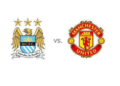 Matchup - Manchester City vs. Man United - Derby - Team Logos / Odds / Preview