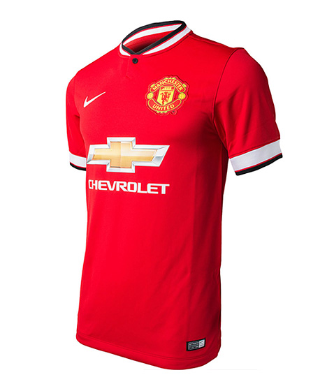 Manchester United 2014/15 season home kit - by Nike - Sponsored by Chevrolet