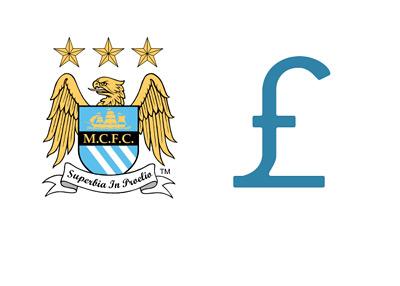 Manchester City FC - Financials - Illustration - Pound Symbol and Team Logo