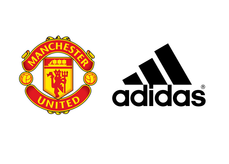 Manchester United Football Club and Adidas - Company Logos
