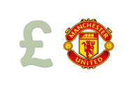 Pound Symbol and Manchester United Logo - Illustration of Man Utd Financials