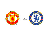 Manchester United vs. Chelsea - Matchup and Team Logos