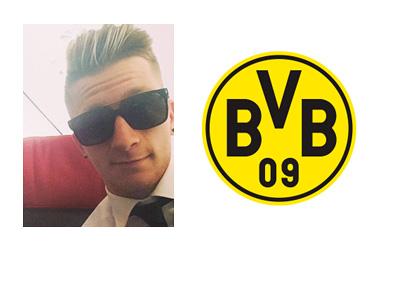 Marco Reus Selfie With Shades On- Borussia Dortmund Logo - Where Next?