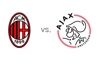 AC Milan vs. Ajax - UEFA Champions League - Team Logos