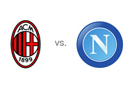 Serie A Matchup - AC Milan vs. Napoli - Team Logos / Crests