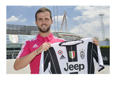 Juventus announce the signing of BiH international Miralem Pjanic for 32 million euros