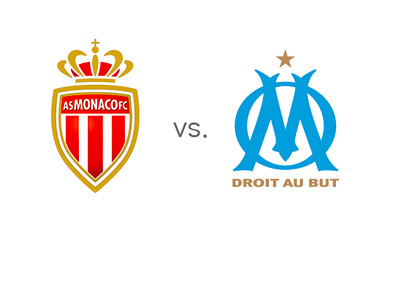 Ligue 1 Matchup - AS Monaco vs. Marseille - Team Logos