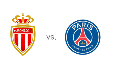 Ligue 1 Matchup - AS Monaco vs. Paris Saint-Germain (PSG) - Team Logos