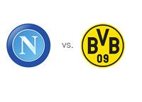 Napoli vs. Borussia Dortmund - UEFA Champions League Matchup - UCL - Team Logos