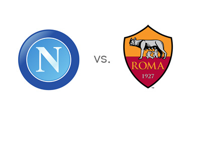 Coppa Italia Matchup - Napoli vs. AS Roma - Team Logos