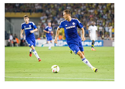 Chelsea FC midfielder - Nemanja Matic - Serbian International - In action - 2014 photo