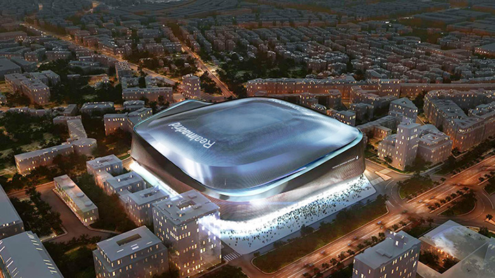 The new Santiago Bernabeu stadium 3d model.  The new home of Real Madrid football club.