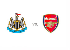 Newcastle vs. Arsenal - EPL Matchup - Team Logos
