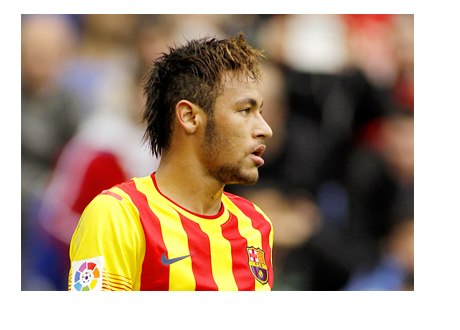 Neymar Junior in the Barcelona FC away kit - March 2014