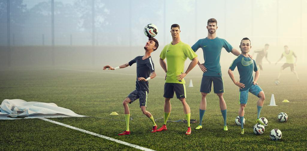 Nike 3D animation campaign - Every Day. Every Play. - Featuring: Neymar, Iniesta, Ronaldo and Pique