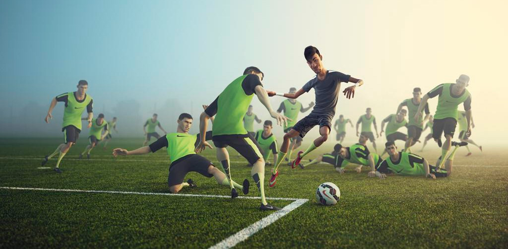 Nike 3D animation campaign - Every Day. Every Play. - Featuring: Neymar dribbling the ball