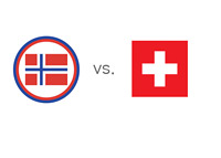 Norway vs. Switzerland - Football Matchup - Nation Jersey Crests