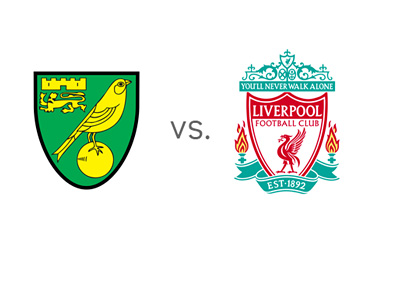 English Premier League Matchup - Norwich vs. Liverpool - Team Logos / Crests / Badges