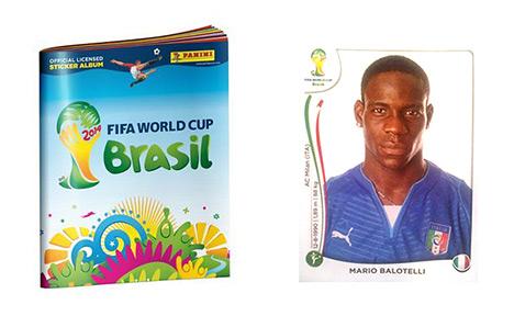 Panini World Cup 2014 Album and Mario Balotelli Sticker