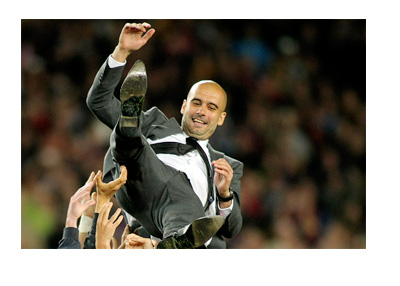 Pep Guardiola surfing on top of Barcelona players - Highest paid football manager in year 2015