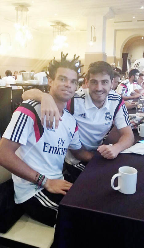 Pepe new haircut - Real Madrid - July 2014