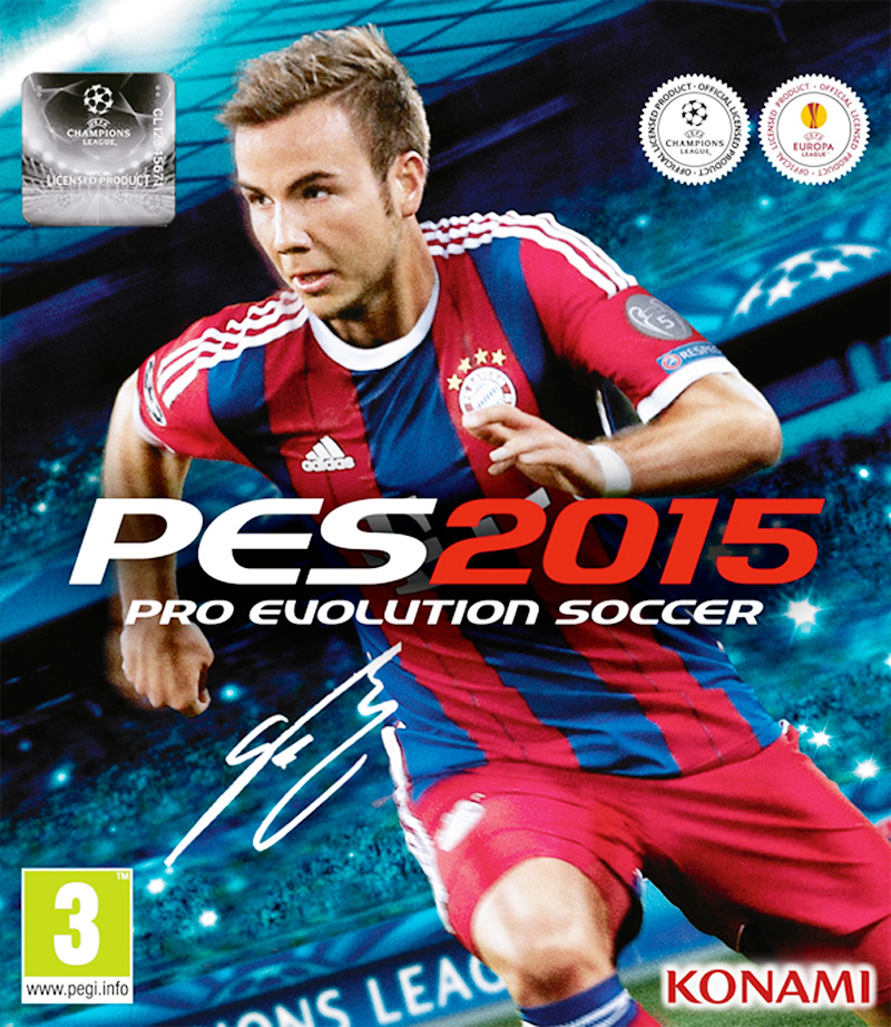 Mario Gotze on the cover of Pro Evolution Soccer (PES) 2015