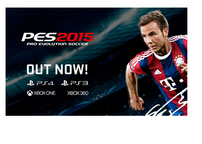 Pro Evolution Soccer - PES 2015 - Out Now - Released on PS3 PS4 Xbox and Xbox One - Mario Gotze Cover