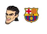 Jose Manuel Pinto Illustration and Barcelona FC logo