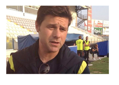 Mauricio Pochettino interviewed on the ground by Spurs TV - Twitter