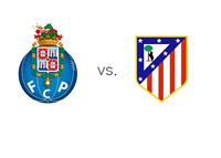 The UEFA Champions League Matchup - FC Porto vs. Atletico Madrid - Team Logos