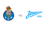 FC Porto vs. Zenit St. Petersburg - UEFA Champions League Match - Team Logos