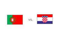 Portugal vs. Croatia - Matchup and Country Flags