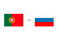Portugal vs. Russia - Matchup and Country Flags