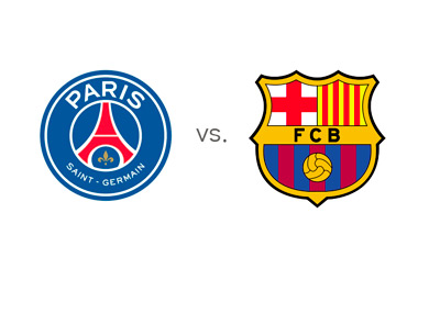 Paris Saint-Germain vs. Barcelona FC - Team Logos - Matchup - Game Preview