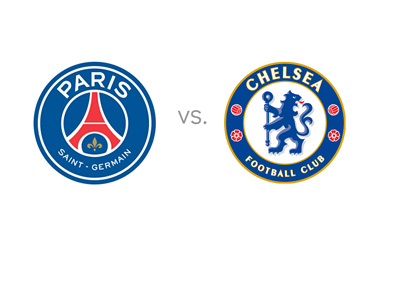 Paris Saint-Germain (PSG) vs. Chelsea FC - Matchup - Odds - Team Logos / Badges / Crests - Face-off