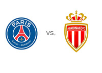 Paris Saint-Germain (PSG) vs. AS Monaco FC - Ligue 1 Matchup - Team Logos