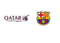 Quatar Airway and Barcelona FC - Logos