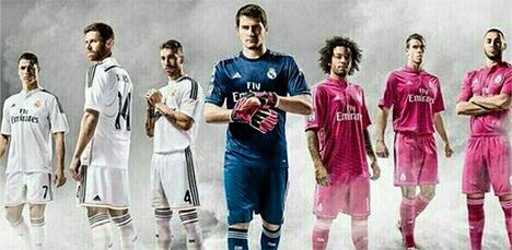 Real Madrid 2014/15 Season Home and Away Kits by Adidas
