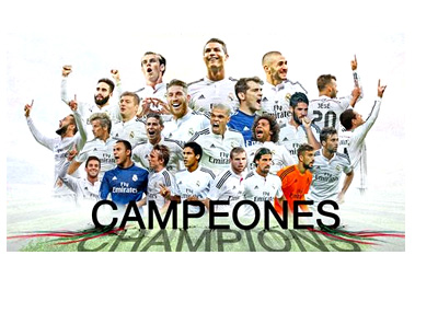 Real Madrid Campeones - Poster for winning the FIFA Club World Cup 2014 - Los Blancos