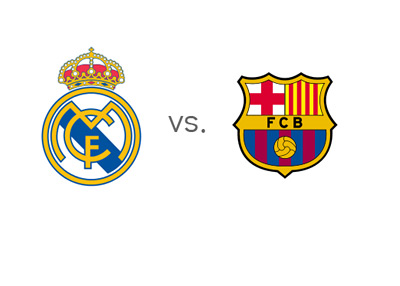 Spanish La Liga Matchup - Real Madrid vs. Barcelona - Team Logos / Crests