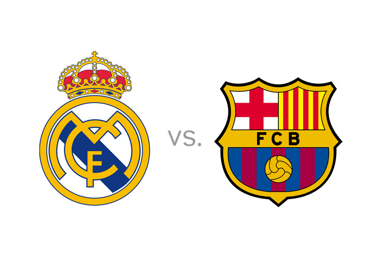 Real Madrid vs. Barcelona FC - Matchup - Team Logos - Large graphic / image - El Clasico